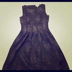 Little Black Dress Rose Pattern